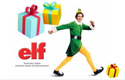 2209.Elf *The Movie* Boxers with Elf Hat